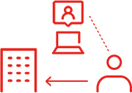 ネットで求人情報を見て、派遣会社に直接エントリーする求職者
